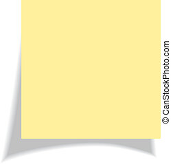 Blank yellow sticker