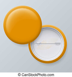 Blank Yellow Vector Badges