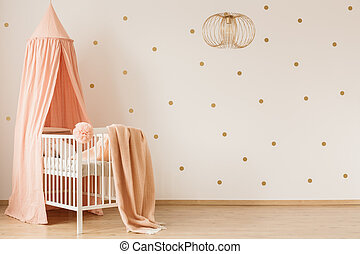 Blanket on crib