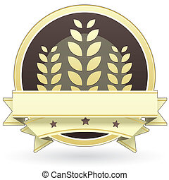 Blankk grain or cereal food label - Blank vector food label...