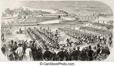 blanville, 軍のパレード