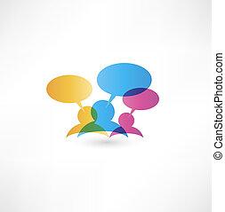 blasen, begriff, vortrag halten , talk