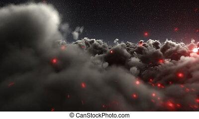 blask, niebo, na, ciągnąć, magiczny
