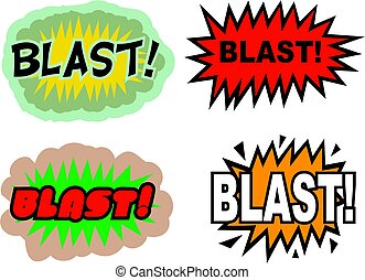 Blast - A collection of comic book cartoon sound effects...