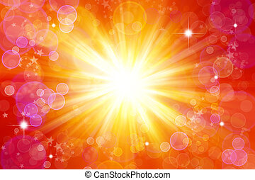 Blast background - Bright blast of light background