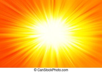 Bright blast of yellow and orange color