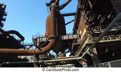 Blast Furnace At Steel Plant - Blast furnace at old...