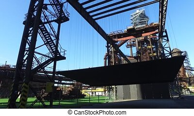 Blast Furnace At Steel Plant