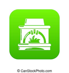 Blast furnace icon green isolated on white background