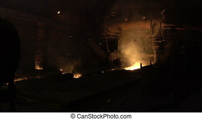 blast-furnace plant in the process of production 3 -...