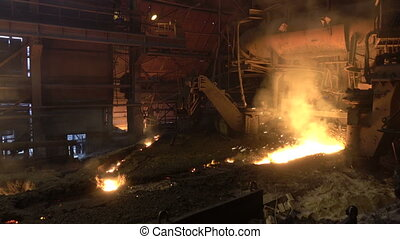 blast-furnace plant in the process of production 4