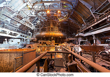 Blast-furnace shop