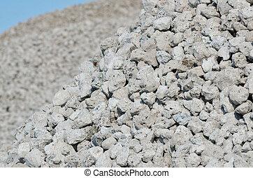 Slag stones - the waste from iron ore, macro
