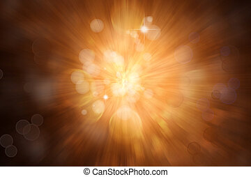 Blast of light - Brown blast background