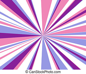 Blast of stars - abstract pink blue and white burst