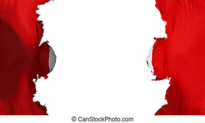 Blasted Ussr communism flag, against white background, 3d...