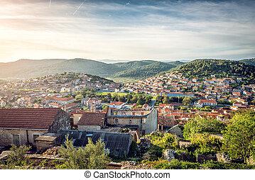 blato, dorf, in, kroatien