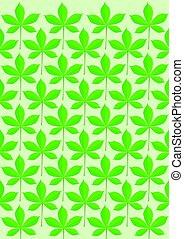 Blatt - Green leaves pattern illustration