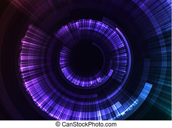 blatt, lila, abstrakt, hintergrund, digital, kreis, explosion