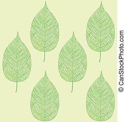 Blatt Muster.eps - leaf pattern