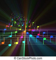 blatt, notizen, musik, glühen, bunte