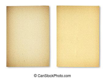 blatt papier, auf, a, weißer hintergrund