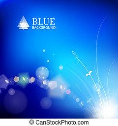 blau verläßt, glühen, hintergrund