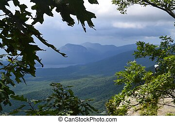 blaue berge, ansicht, bergrücken, landschaftlich