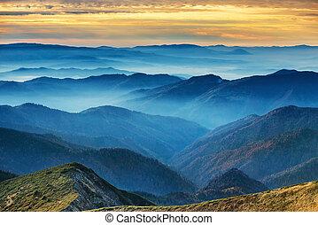 blaue berge, hügel
