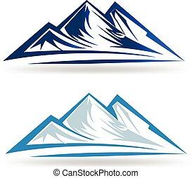blaue berge, logo