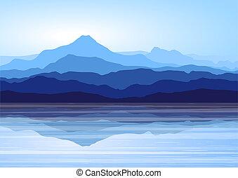 blaue berge, see