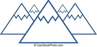 blaue berge, symbol