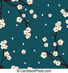 blaue blume, indigo, blüte, pflaume, hintergrund