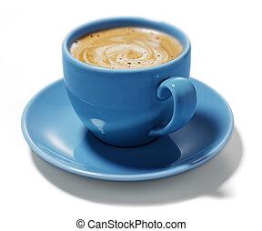blaue kaffeetasse