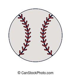 blaue kugel, linien, baseball, sport, karikatur