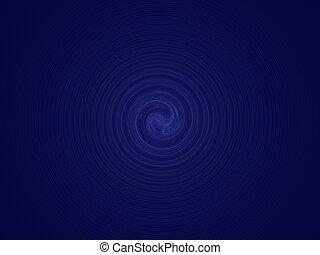 blaue spirale, tief