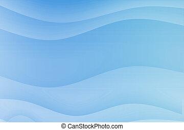 blaue wellen, strömend, besänftigung