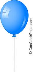 blauer ballon, vektor, abbildung