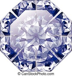 blauer diamant, glänzend