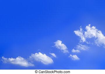 blauer himmel, hell, wolkenhimmel, hintergrund