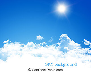 blauer himmel, hintergrund