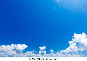 blauer himmel, mit, weiße wolken