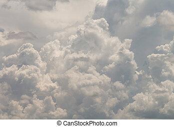 blauer himmel, mit, wolke, hintergrund