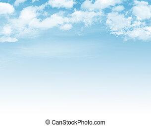 blauer himmel, mit, wolkenhimmel