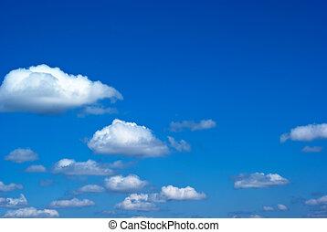 blauer himmel, mit, wolkenhimmel, und, sonnenlicht