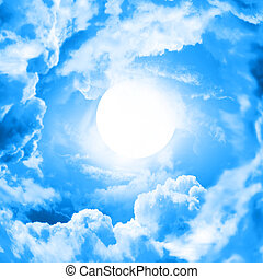 blauer himmel, mond