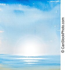 blauer himmel, sea.