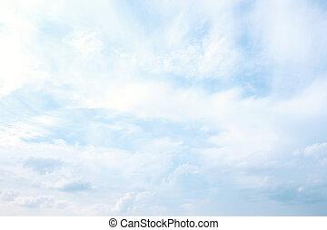 blauer himmel, und, wolkenhimmel, abstrakt, hintergrund