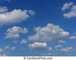 blauer himmel, und, wolkenhimmel, hintergrund
