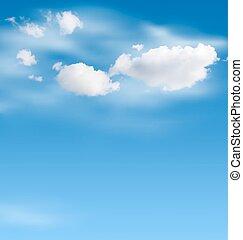 blauer himmel, weiße wolken